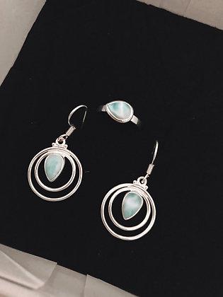 Larimar Jewellery Set