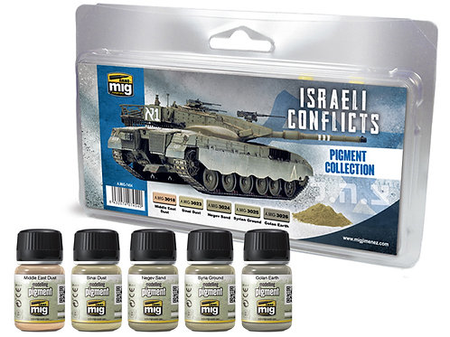 Набор пигментов Israeli Conflict Pigment Set - Ammo Mig AMIG-7454