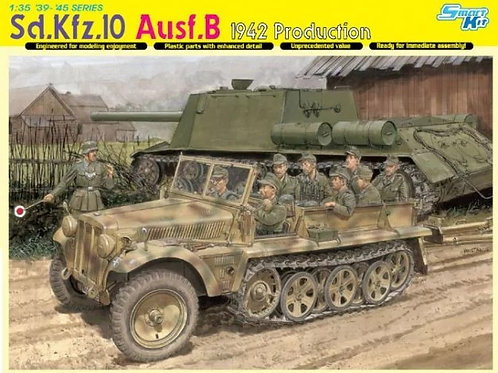 Немецкий тягач Sd.Kfz.10 Ausf.B, 1942 Production - Dragon 6731 1:35