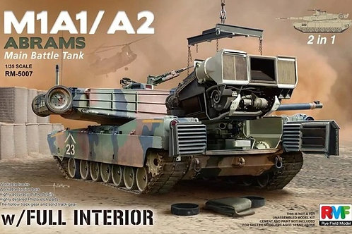 M1A1/M1A2 Абрамс, полный интерьер, рабочие траки - Rye Field Model 1:35 RM-5007