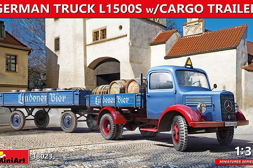 (предзаказ) German Truck L1500S w/Cargo Trailer - MiniArt 1:35 38023