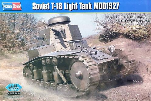 Советский легкий танк Т-18 мод. 1927 года - Hobby Boss 83873 1:35