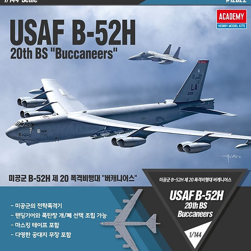(под заказ) Boeing B-52H Stratofortress 20th BS Buccaneers - Academy 12622 1:144