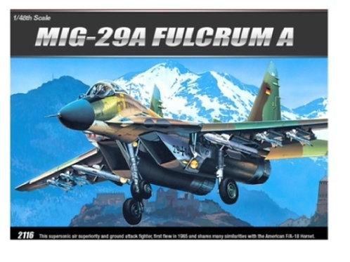 Самолет МиГ-29А FULCRUM A - Academy 1:48 12263 - Миг-29 А