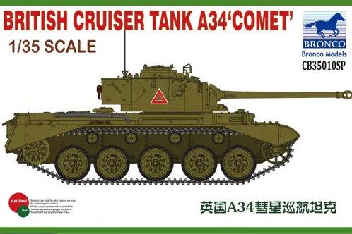 Британский танк Комета A34 Comet - Bronco CB35010SP 1:35 (+ наборные траки)