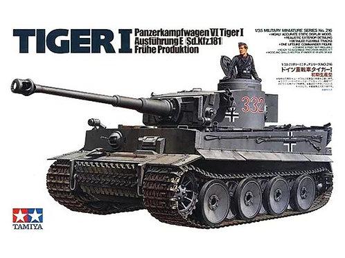 """Немецкий танк """"Тигр"""" Tiger I Ausf.E ранняя версия - Tamiya 35216 1/35"""