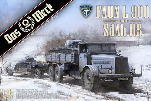 Немецкий тягач Faun L900 и полуприцеп SdAh 115 - Das Werk DW35003 1/35