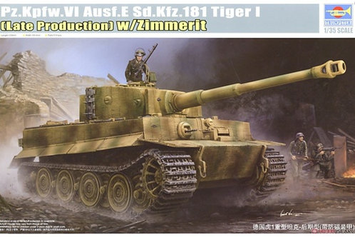 Tiger I (Late Production) w/Zimmerit - Trumpeter 09540 1:35