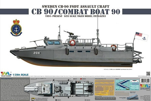 Sweden CB-90 FDST Assault Craft CB 90/Combat Boat 90 - Tiger Model 1:35 6293