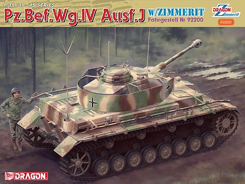 (под заказ) Pz.Bef.Wg.IV Ausf.J Fahrgestell №92200w/Zimmerit -Dragon 6823 1:35