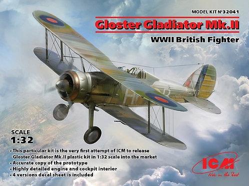ICM 32041 Gloster Gladiator Mk.II, Британский истребитель II МВ 1:32