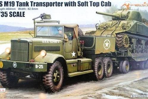 (под заказ) Танковый тягач M19 с мягкой крышей - Merit International 1:35 63502