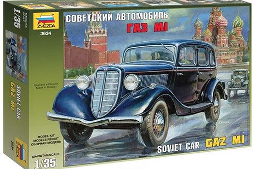 Советский автомобиль ГАЗ-М1 - Звезда 3634 1/35