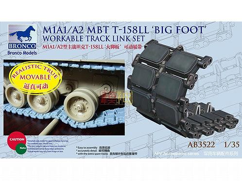 Рабочие траки Абрамс M1A1/A2 MBT T-158LL Big Foot - Bronco AB3522 1:35