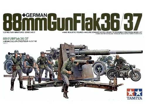 Немецкая 88-мм зенитка FlaK 36/37 - Tamiya 35017 1:35