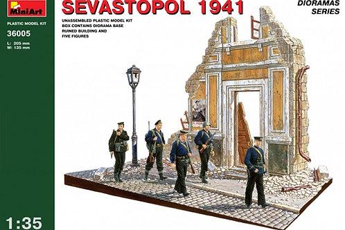 "36005 MiniArt 1/35 Набор для диорамы ""Севастополь. 1941 год"" + фигурки морпехов"