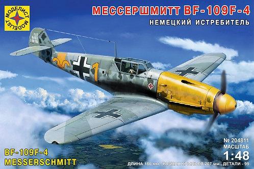 Моделист 204811 1/48 Немецкий истребитель Мессершмитт Bf-109F-4