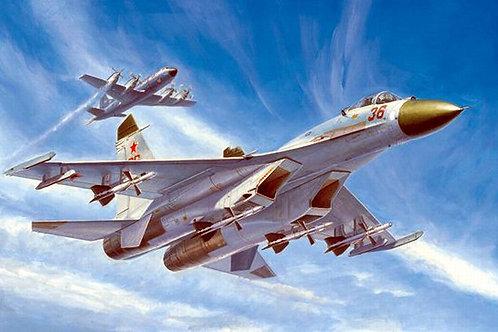Самолет Сухой Су-27 ранний выпуск, Su-27 Early - Trumpeter 1:72 01661