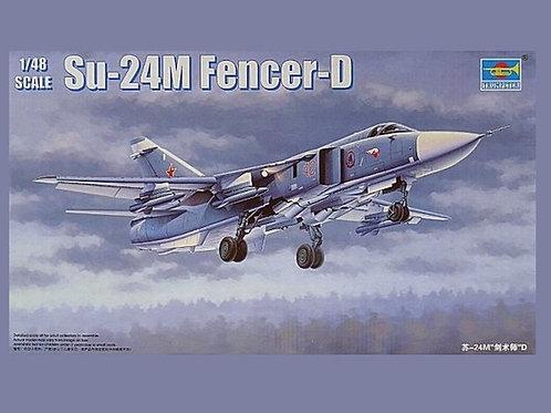 (под заказ) Российский бомбардировщик Су-24М - Trumpeter 02835 1:48