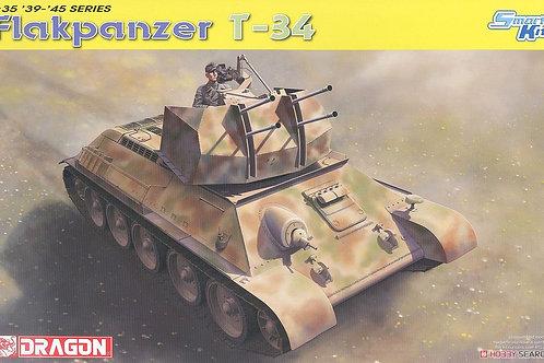 Немецкая ЗСУ на шасси Т-34, Flakpanzer T-34r - Dragon 6599 1/35