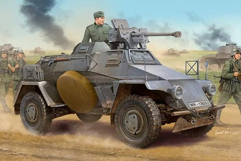 Немецкий броневик Sd.Kfz. 221 (ранний) с ружьем PzB 41 - Hobby Boss 83813 1:35