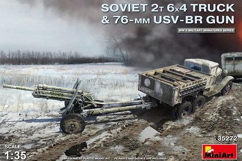 Советский 2-тонный грузовик ГАЗ ААА с  76-мм УСВ-БР пушкой - MiniArt 35272 1:35
