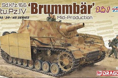 (под заказ) Sturmpanzer IV Brummbar с циммеритом и без (2в1) - Dragon 6892 1/35