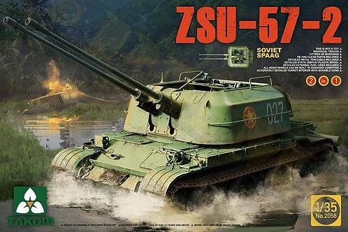 Советская зенитная самоходка ЗСУ-57-2 - Takom 2058 1:35