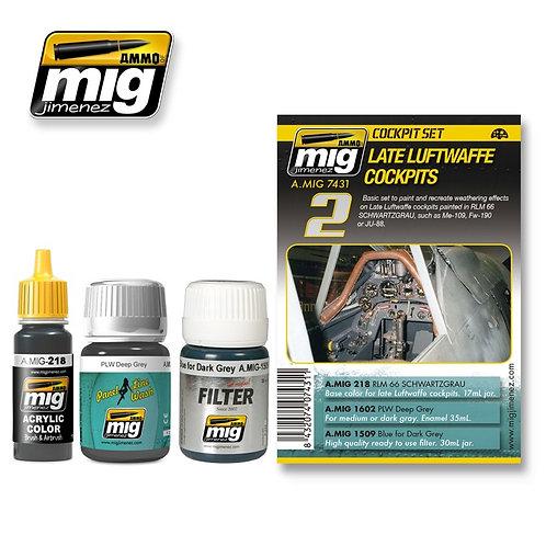 Ammo Mig AMIG-7431 Набор эффектов Германские кокпиты, поздние варианты люфтваффе