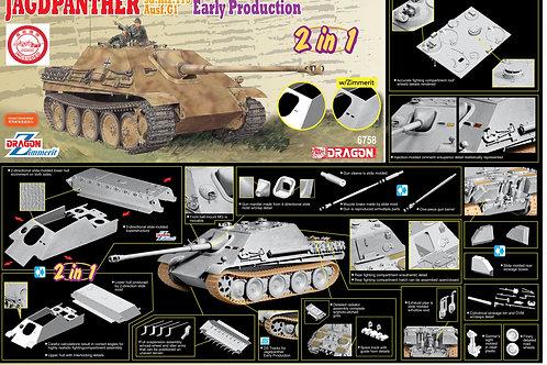 Jagdpanther Ausf. G1 ранняя, с циммеритом, 2в1 - Dragon 1:35 6758 + жирные ДОПЫ