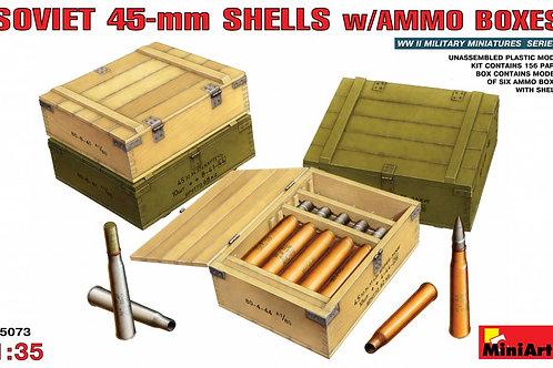 Советские 45-мм снаряды с ящиками - MiniArt 35073 1/35