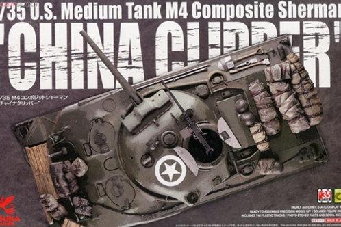 (под заказ) M4 Composite Sherman CHINA CLIPPER - ASUKA / Tasca 1:35 35-034