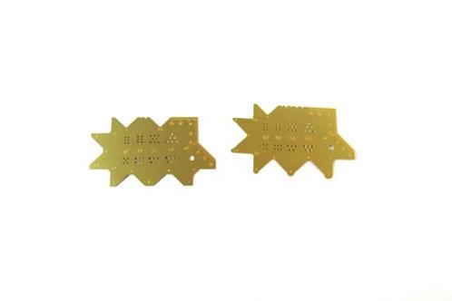 Профилирующие шаблоны (гайки, болты и др.) 2 шт - Микродизайн МД 100318 (100218)
