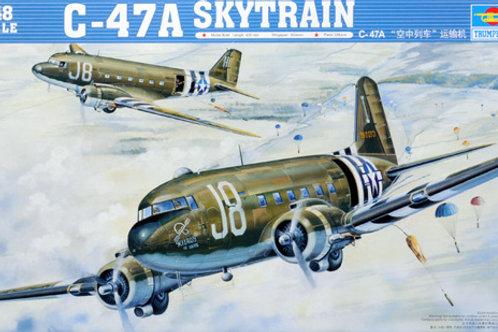 (под заказ) Американский самолет C-47A Skytrain - Trumpeter 1:48 02828