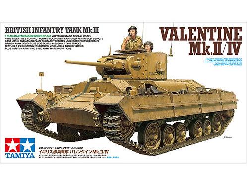 Британский пехотный танк Валентайн Mk.III Valentine Mk.II/ IV, Tamiya 1:35 35352