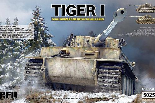 Танк Тигр ранний Виттмана, полный интерьер, прозрачные детали - RFM RM-5025 1/35