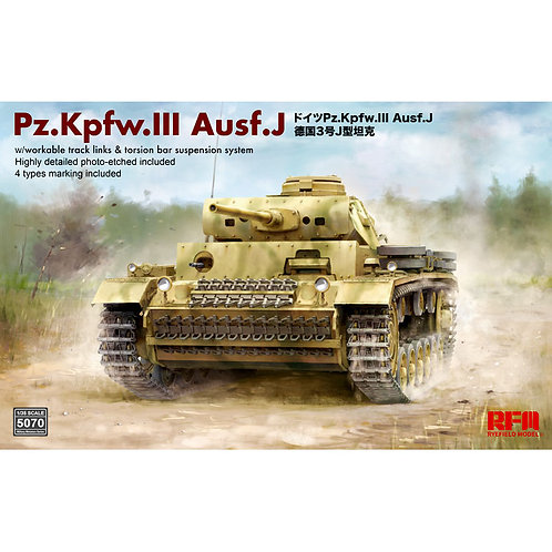 Pz.Kpfw.III Ausf.J Limited Edition, Rye Field Model RFM 1:35 RM-5070
