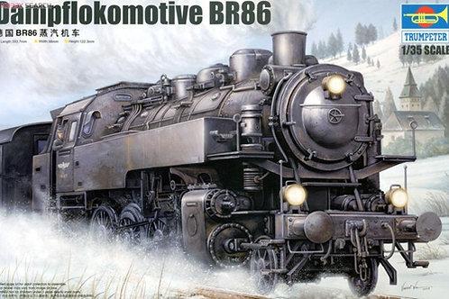 (под заказ) Немецкий паровоз Dampflokomotive BR 86 - Trumpeter 1:35 00217
