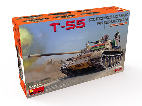 37074 MiniArt 1/35 37074 Танк Т-55, производство Чехословакии