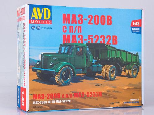 МАЗ-200В с полуприцепом МАЗ-5232В - AVD Models 7059AVD 1:43
