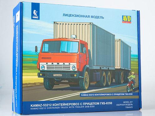 КАМАЗ-53212 контейнеровоз с прицепом ГКБ-8350 - AVD Models 7064AVD 1:43