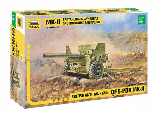 Звезда 3518 1/35 Mk-II британская 6-фунтовая противотанковая пушка