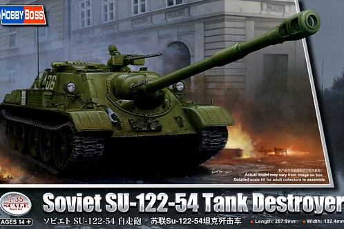 Советская самоходка СУ-122-54 +ТОЧЕНЫЙ СТВОЛ - Hobby Boss 84543 1:35