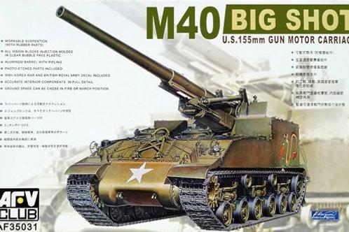 M40 Big Shot U.S. 155mm Gun Motor Carriage - AFV Club 1:35 AF35031
