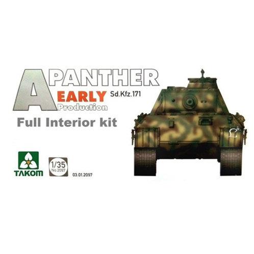Panther Ausf. A ранняя серия, полный интерьер - Takom 2097 1:35