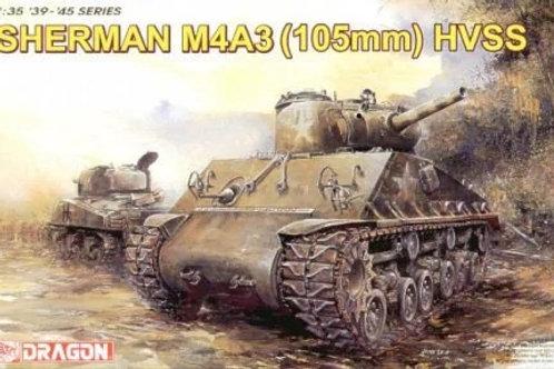 (под заказ) Sherman M4A3 105mm HVSS Шерман с 105-мм гаубицей - Dragon 1:35 6354
