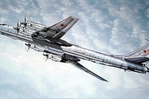 Советский самолет Ту-142МР, Tupolev Tu-142MR Bear-J - Trumpeter 1:72 01609