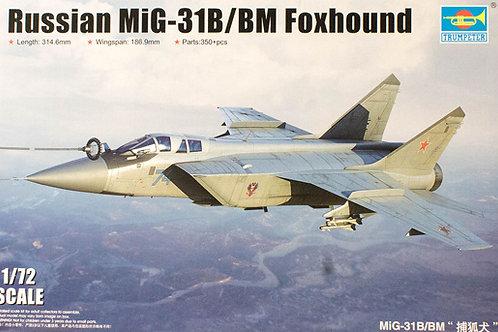 Российский самолет МиГ-31 Б/БМ, Foxhound - Trumpeter 1:72 01680