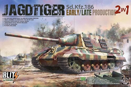 (под заказ) Самоходка Ягдтигр 2в1 Jagdtiger Early/Late 2in1 - Takom 1:35 8001
