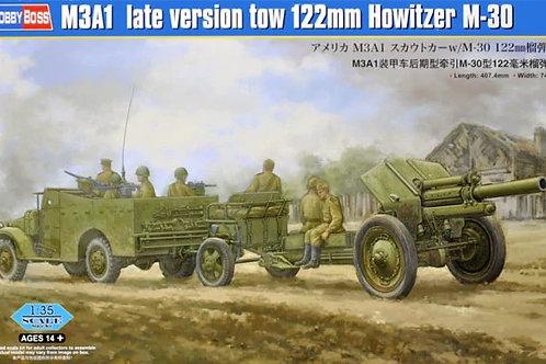 "М3А1 ""Скаут"" поздний и 122-мм гаубица М30 - Hobby Boss 1:35 84537"